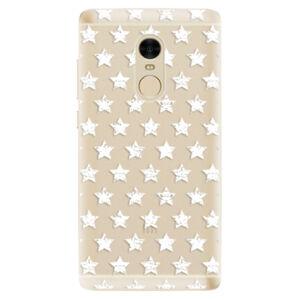 Odolné silikónové puzdro iSaprio - Stars Pattern - white - Xiaomi Redmi Note 4