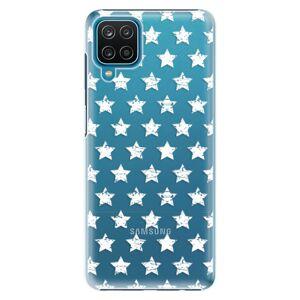 Plastové puzdro iSaprio - Stars Pattern - white - Samsung Galaxy A12