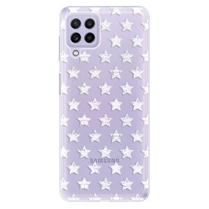 Odolné silikónové puzdro iSaprio - Stars Pattern - white - Samsung Galaxy A22