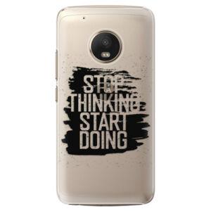 Plastové puzdro iSaprio - Start Doing - black - Lenovo Moto G5 Plus