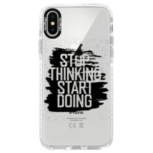 Silikónové púzdro Bumper iSaprio - Start Doing - black - iPhone X