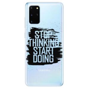 Odolné silikónové puzdro iSaprio - Start Doing - black - Samsung Galaxy S20+
