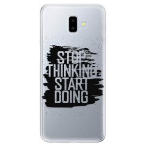 Odolné silikónové puzdro iSaprio - Start Doing - black - Samsung Galaxy J6+