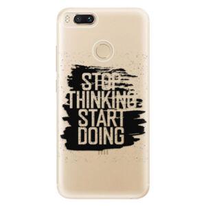 Odolné silikónové puzdro iSaprio - Start Doing - black - Xiaomi Mi A1