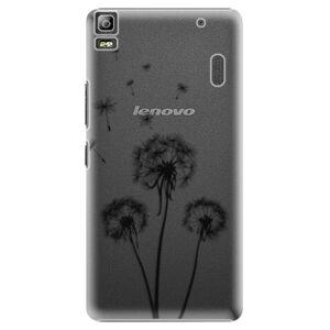 Plastové puzdro iSaprio - Three Dandelions - black - Lenovo A7000
