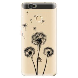 Plastové puzdro iSaprio - Three Dandelions - black - Huawei Nova