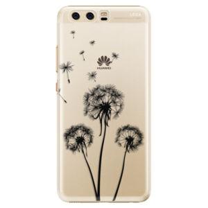 Plastové puzdro iSaprio - Three Dandelions - black - Huawei P10