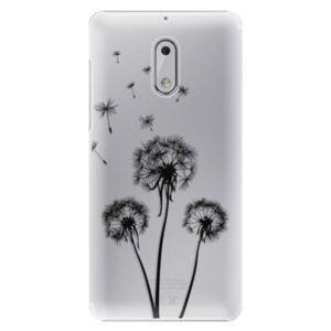 Plastové puzdro iSaprio - Three Dandelions - black - Nokia 6