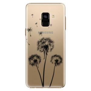 Plastové puzdro iSaprio - Three Dandelions - black - Samsung Galaxy A8 2018
