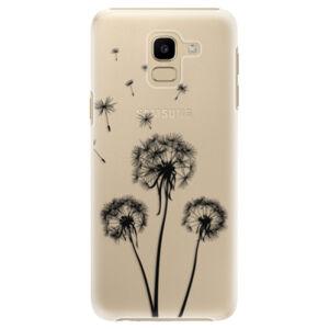 Plastové puzdro iSaprio - Three Dandelions - black - Samsung Galaxy J6