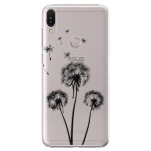 Plastové puzdro iSaprio - Three Dandelions - black - Asus Zenfone Max Pro ZB602KL