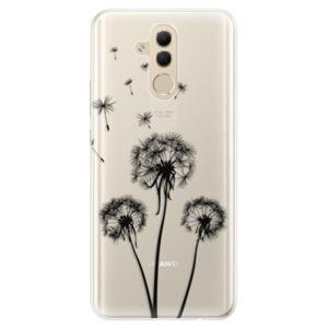 Silikónové puzdro iSaprio - Three Dandelions - black - Huawei Mate 20 Lite