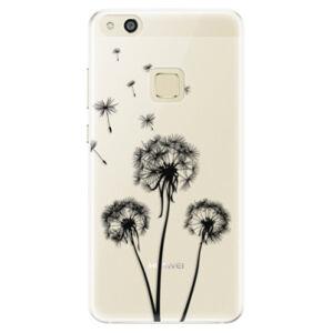Silikónové puzdro iSaprio - Three Dandelions - black - Huawei P10 Lite