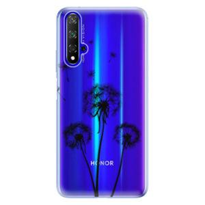 Odolné silikónové puzdro iSaprio - Three Dandelions - black - Huawei Honor 20
