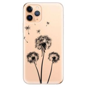 Odolné silikónové puzdro iSaprio - Three Dandelions - black - iPhone 11 Pro
