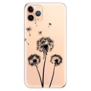 Odolné silikónové puzdro iSaprio - Three Dandelions - black - iPhone 11 Pro Max