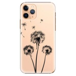 Plastové puzdro iSaprio - Three Dandelions - black - iPhone 11 Pro