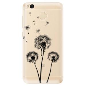 Odolné silikónové puzdro iSaprio - Three Dandelions - black - Xiaomi Redmi 4X