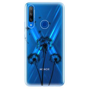 Odolné silikónové puzdro iSaprio - Three Dandelions - black - Huawei Honor 9X