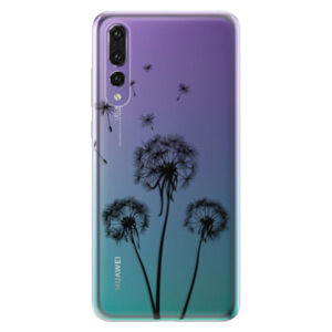 Odolné silikónové puzdro iSaprio - Three Dandelions - black - Huawei P20 Pro