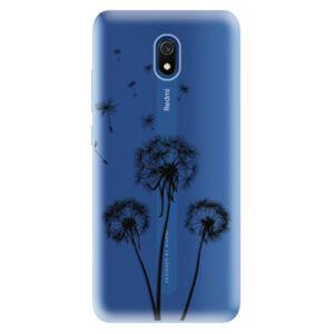 Odolné silikónové puzdro iSaprio - Three Dandelions - black - Xiaomi Redmi 8A