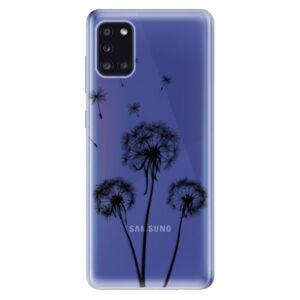 Odolné silikónové puzdro iSaprio - Three Dandelions - black - Samsung Galaxy A31