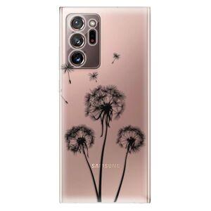 Odolné silikónové puzdro iSaprio - Three Dandelions - black - Samsung Galaxy Note 20 Ultra
