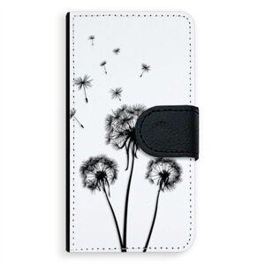 Univerzálne flipové puzdro iSaprio - Three Dandelions - black - Flip S