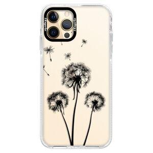 Silikónové puzdro Bumper iSaprio - Three Dandelions - black - iPhone 12 Pro