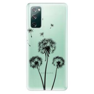 Odolné silikónové puzdro iSaprio - Three Dandelions - black - Samsung Galaxy S20 FE