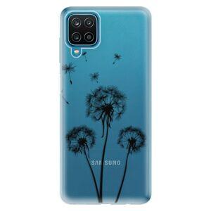 Odolné silikónové puzdro iSaprio - Three Dandelions - black - Samsung Galaxy A12