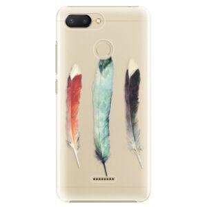 Plastové puzdro iSaprio - Three Feathers - Xiaomi Redmi 6