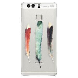 Silikónové puzdro iSaprio - Three Feathers - Huawei P9