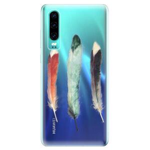 Odolné silikonové pouzdro iSaprio - Three Feathers - Huawei P30