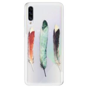 Odolné silikónové puzdro iSaprio - Three Feathers - Samsung Galaxy A30s