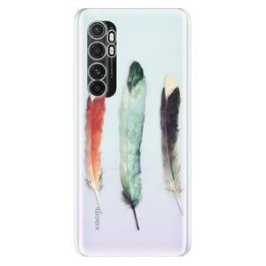 Odolné silikónové puzdro iSaprio - Three Feathers - Xiaomi Mi Note 10 Lite