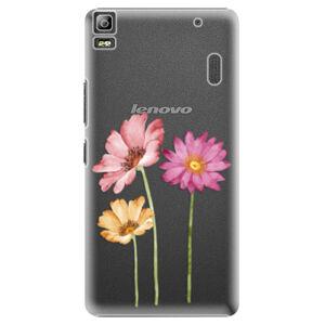 Plastové puzdro iSaprio - Three Flowers - Lenovo A7000