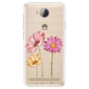 Plastové puzdro iSaprio - Three Flowers - Huawei Y3 II