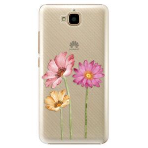 Plastové puzdro iSaprio - Three Flowers - Huawei Y6 Pro
