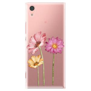 Plastové puzdro iSaprio - Three Flowers - Sony Xperia XA1