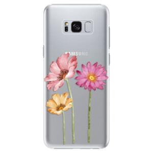 Plastové puzdro iSaprio - Three Flowers - Samsung Galaxy S8