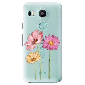 Plastové puzdro iSaprio - Three Flowers - LG Nexus 5X