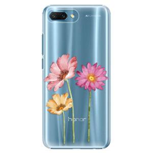 Plastové puzdro iSaprio - Three Flowers - Huawei Honor 10