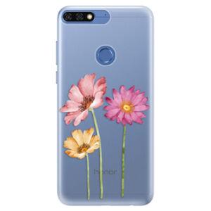 Silikónové puzdro iSaprio - Three Flowers - Huawei Honor 7C