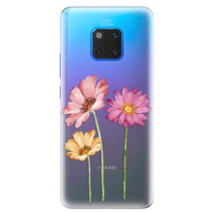 Silikónové puzdro iSaprio - Three Flowers - Huawei Mate 20 Pro