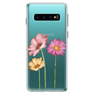 Plastové puzdro iSaprio - Three Flowers - Samsung Galaxy S10