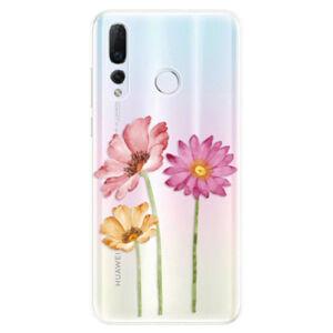 Odolné silikonové pouzdro iSaprio - Three Flowers - Huawei Nova 4