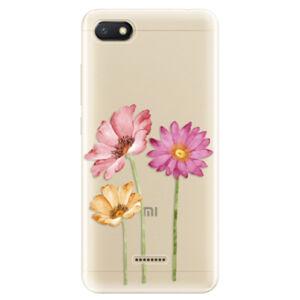 Odolné silikónové puzdro iSaprio - Three Flowers - Xiaomi Redmi 6A