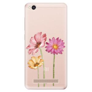 Odolné silikónové puzdro iSaprio - Three Flowers - Xiaomi Redmi 4A