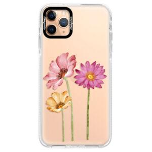 Silikónové puzdro Bumper iSaprio - Three Flowers - iPhone 11 Pro Max